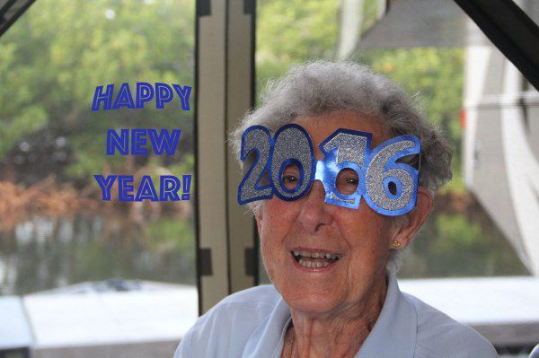 Norma smiling all the way into 2016.  For the last six months, Norma has been traveling around the United States with her family in a motor home. She has not experienced any pain and feels that her cancer may be going into remission. Stranger things have happened.