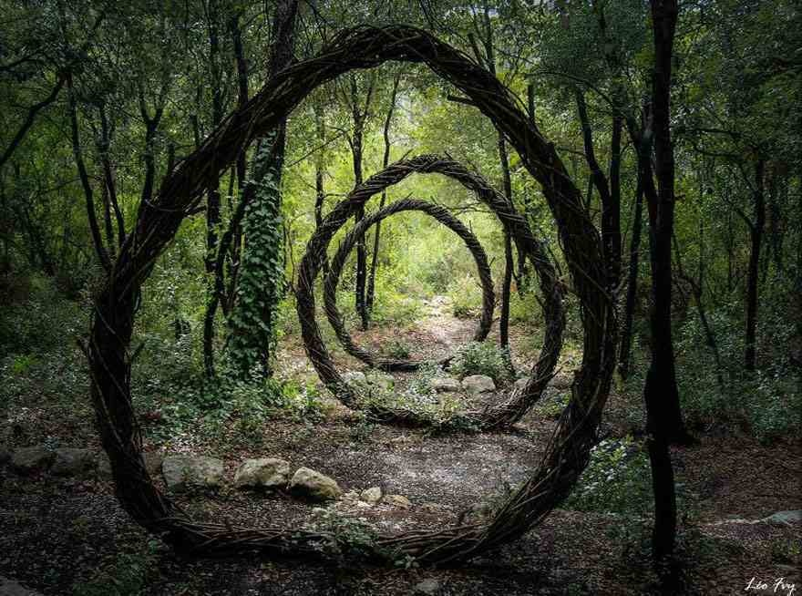 Mysterious sculptures in the forests of France.