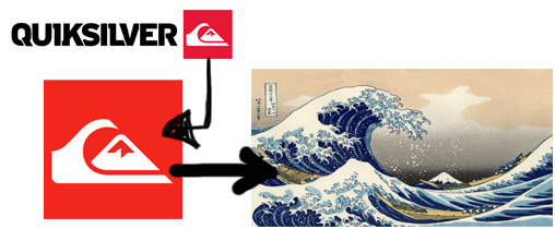 "Well, that's exactly why the red company logo depicts a stylized rendition of the woodcut ""The Great Wave off Kanagawa""?"