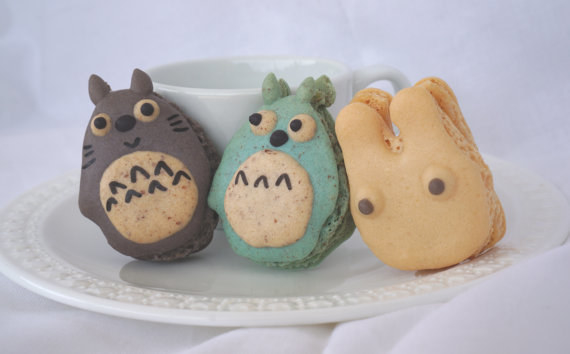 These precious Totoro macarons that would be a crime to eat.