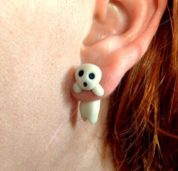These kodama earrings that are just so spooked.