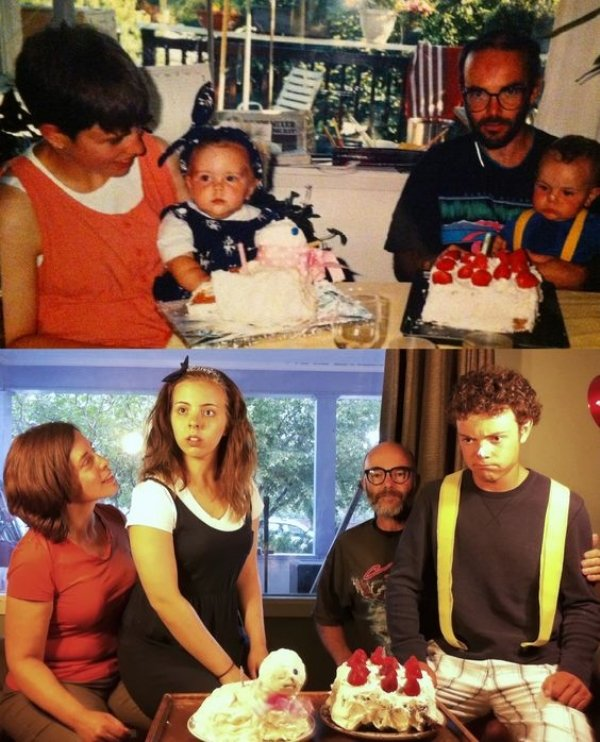 family photos then now same recreated funny 12 Then & now images prove that some people never change (40 Photos)